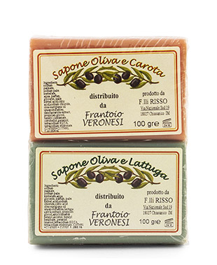 Seife 2x100 g Oliven und Salat - Oliven und  Karotte