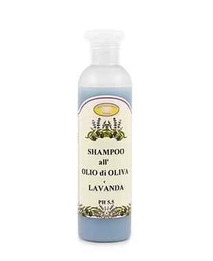 Shampoo mit Olivenöl und Lavendel